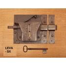 starinska stilka ključavnica za kletna vrata rja