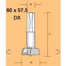 SVEDER ZA PANTE 2+2 NAST.10X26 57,5mm FI60 DX