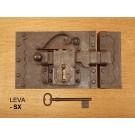 STARINska stilna kovana ključavnica za kletna vrata rja